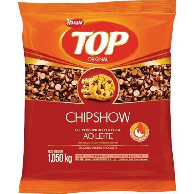 Cobertura de Chocolate Gotinhas ao Leite ChipShow 1,05kg Harald/Top pacote UN