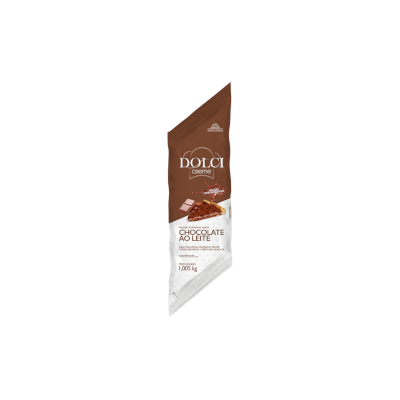 Cobertura e recheio forneável sabor chocolate ao leite 1,050kg Dolci bisnaga BIS