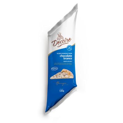 Cobertura e recheio forneável sabor chocolate branco 1,05kg Doceiro bisnaga BIS