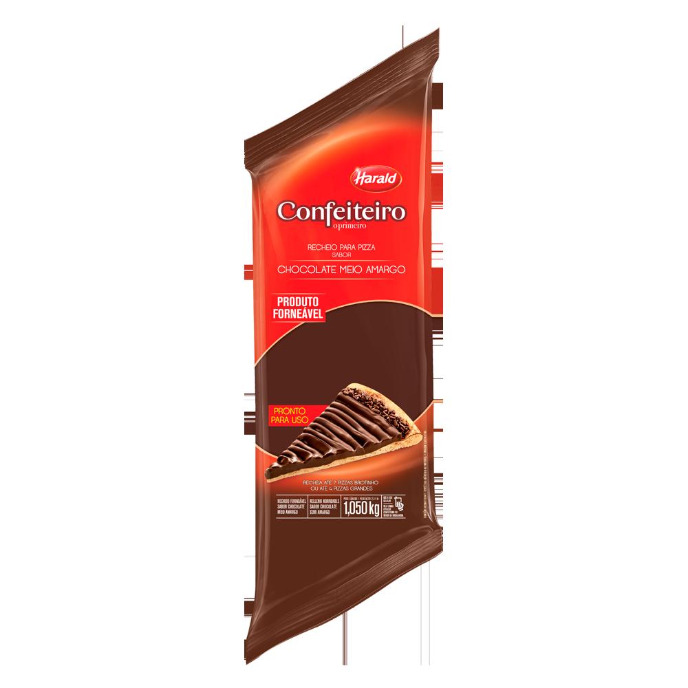 Cobertura e recheio forneável sabor chocolate meio amargo 1,050kg Harald/Confeiteiro bisnaga BIS