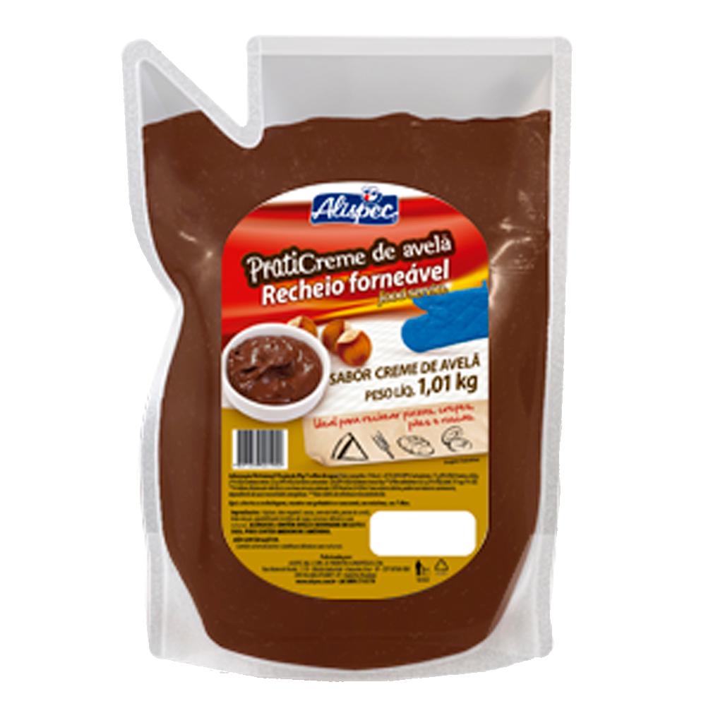 Cobertura e Recheio Forneável sabor Creme de Avelã 1kg Alispec bisnaga BIS