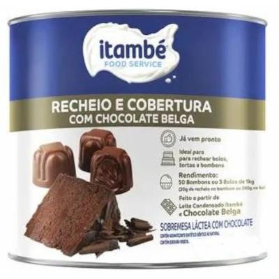 Cobertura e Recheio sabor Chocolate Belga 1,05kg Itambé lata LT