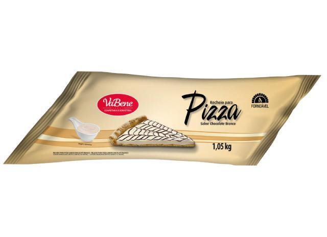 Cobertura e recheio sabor Chocolate Branco Forneável 1,05kg VaBene bisnaga BIS