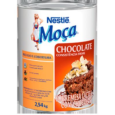 Cobertura e recheio sabor chocolate 2,54kg Nestlé/Moça lata UN