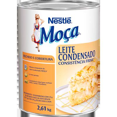 Leite Condensado para Cobertura e Recheio - Consistência Firme 2,6kg Nestlé/Moça lata UN
