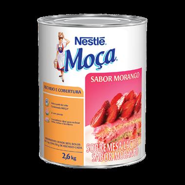 Cobertura e recheio sabor morango 2,6kg Nestlé/Moça lata UN