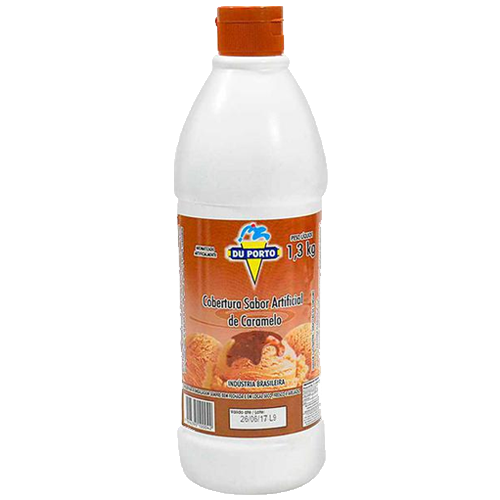 Cobertura para Sorvete Caramelo 1,3kg Du porto squeeze UN