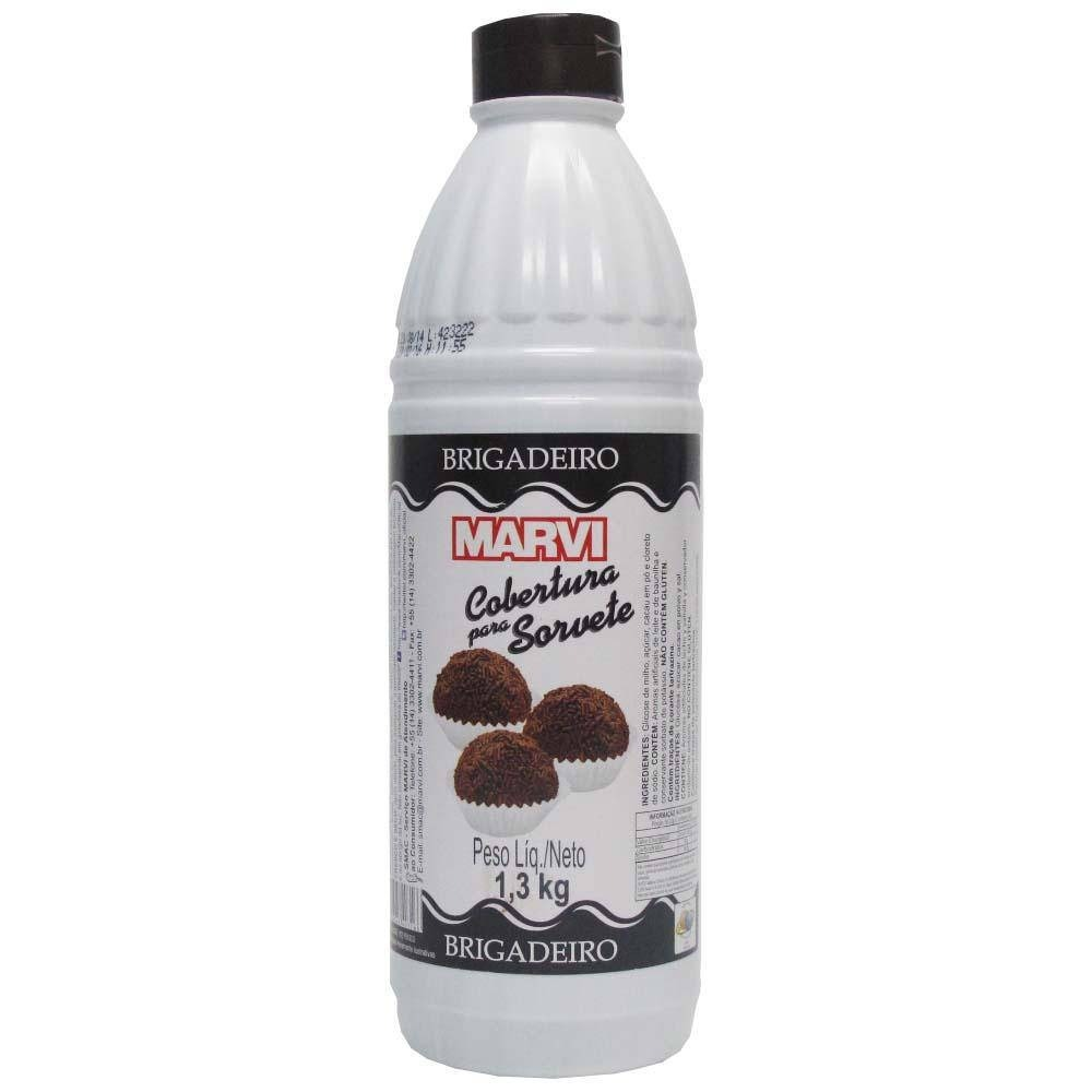 Cobertura para Sorvete Brigadeiro 1,3kg Marvi squeeze UN