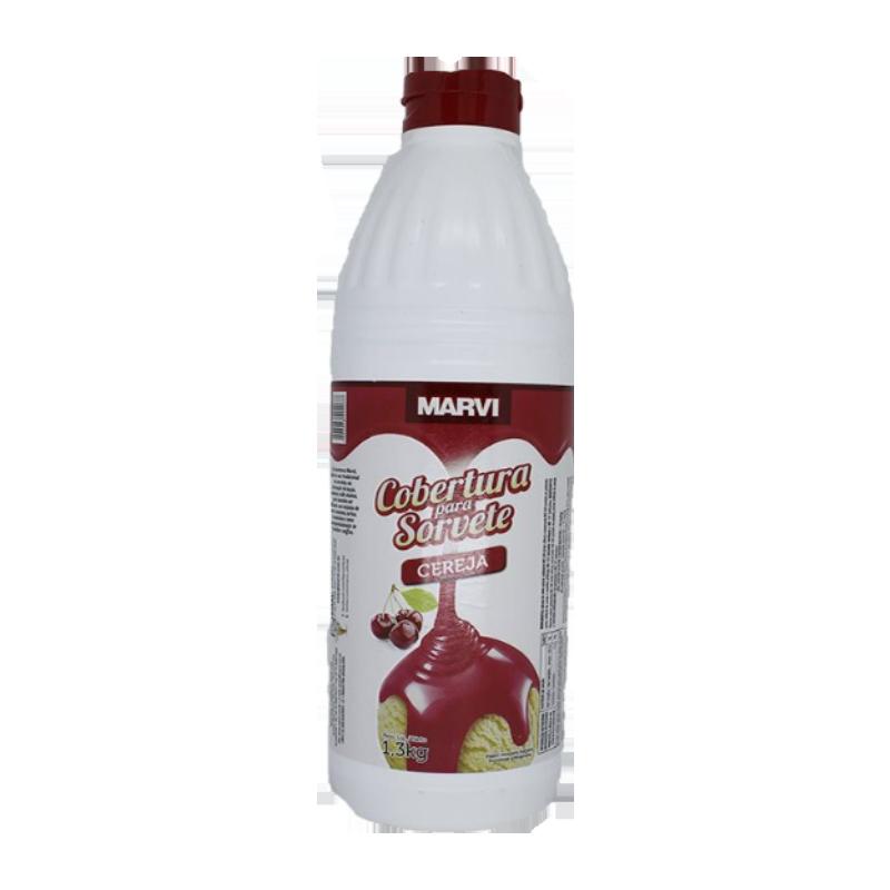 Cobertura para Sorvete Cereja 1,3kg Marvi squeeze UN