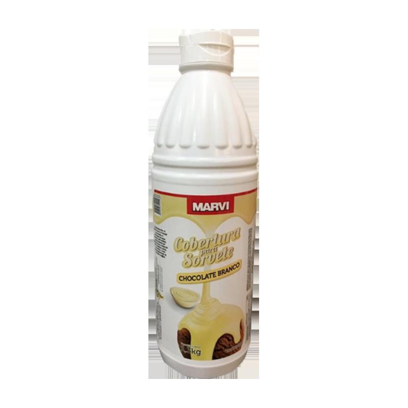 Cobertura para Sorvete Chocolate Branco 1,3kg Marvi squeeze UN