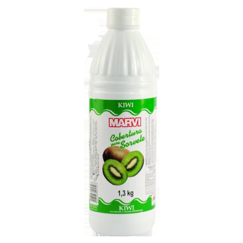 Cobertura para Sorvete Kiwi 1,3kg Marvi squeeze UN