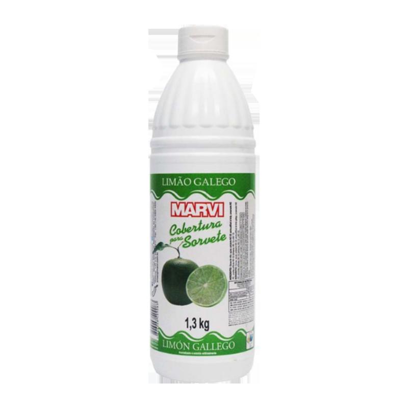 Cobertura para Sorvete Limão Galego 1,3kg Marvi squeeze UN