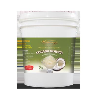 Cocada branca cremosa 5kg Pastoriza balde BD