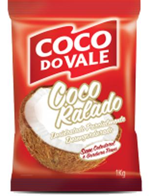 Coco Ralado Desidratado 1kg Coco do Vale pacote PCT