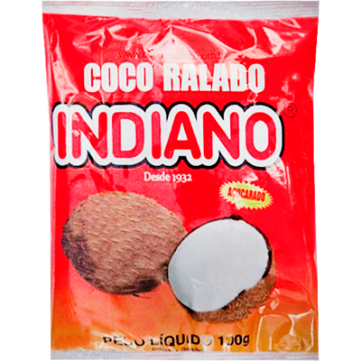 Coco ralado  100g Indiano pacote PCT