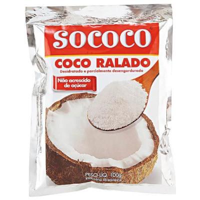 Coco Ralado  100g Sococo pacote PCT