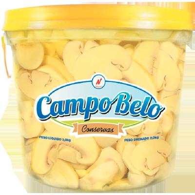 Cogumelo Champignon Fatiado 2kg Campo Belo balde BD