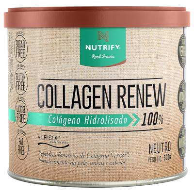 Colágeno hidrolisado neutro 300g Collagen Renew/Nutrify pote POTE