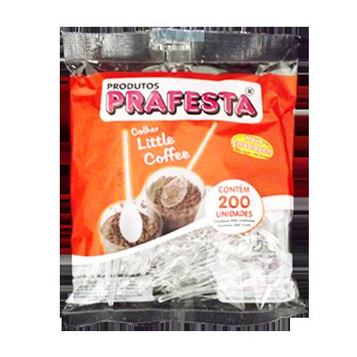 Colher descartável café cristal 200 unidades Prafesta pacote PCT
