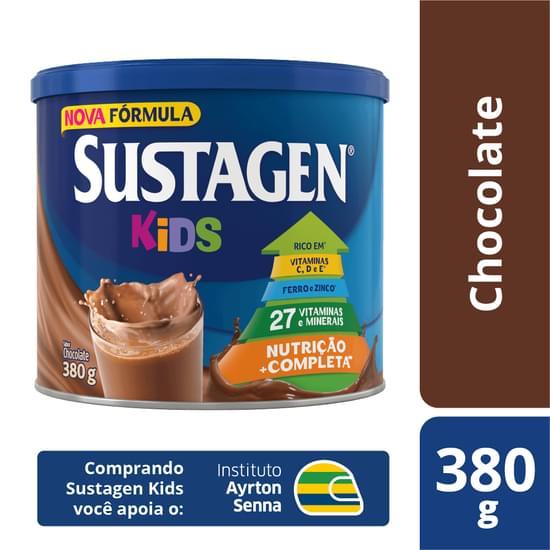 Complemento Alimentar sabor chocolate 380g Sustagen/Kids lata LT