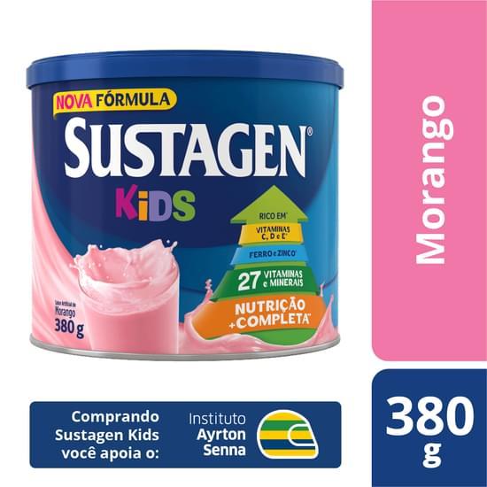 Complemento Alimentar sabor morango 380g Sustagen/Kids lata LT
