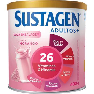 Complemento Alimentar sabor Morango 400g Sustagen lata LT