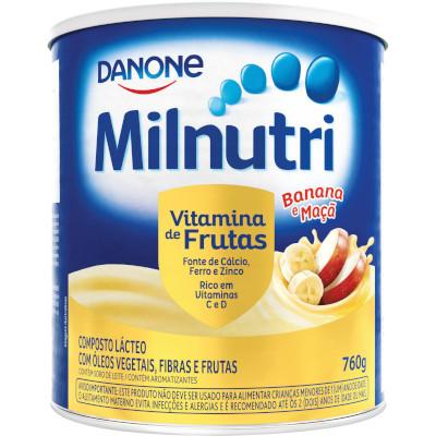 Composto Lácteo em Pó Sabor Vitaminas de Frutas 760g Milnutri lata LT