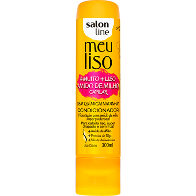 Condicionador amido de milho 300ml Meu Liso/Salon Line  UN