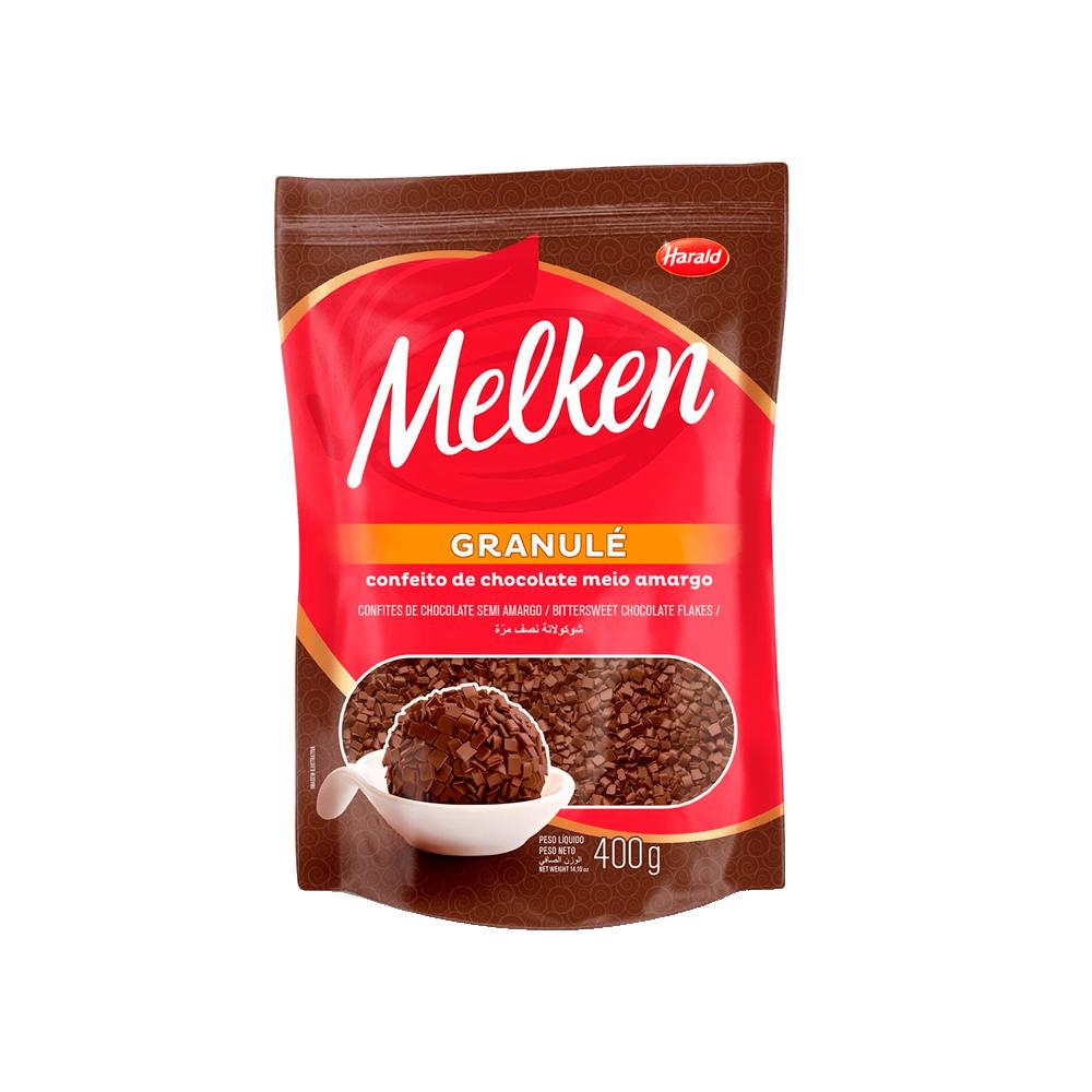 Confeitos chocolate ao leite granulè 400g Harald/Melken pacote PCT