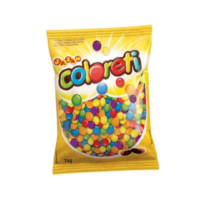 Confeitos de chocolate 1kg Coloreti pacote PCT