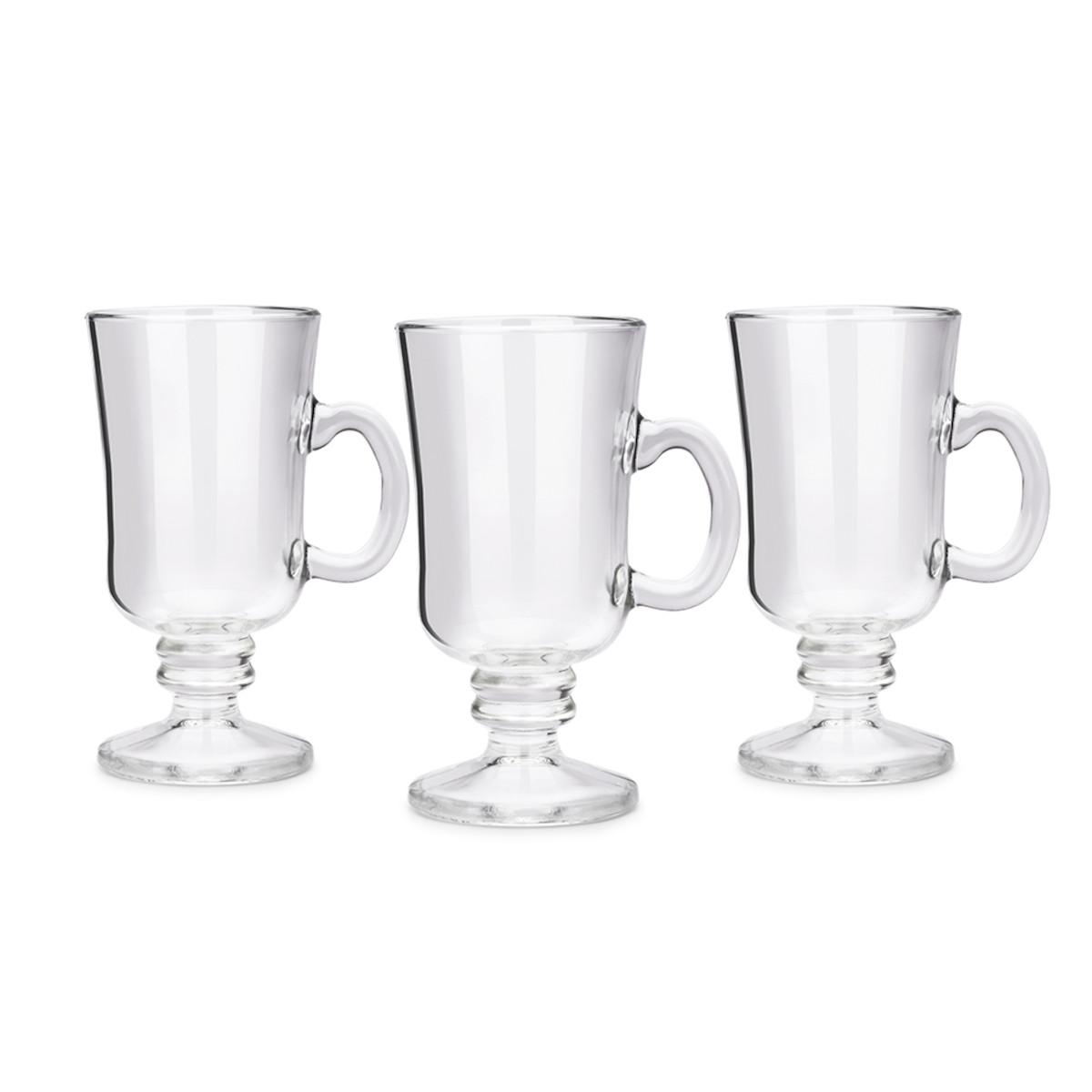 Conjunto de 3 Canecas Irish Coffee Pavillion 240ml 3 unidades Haus Concept vidro UN