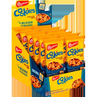 Cookies original 12 unidades de 40g Bauducco caixa CX