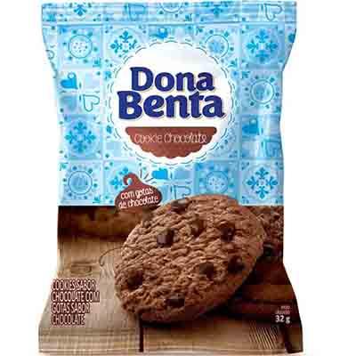 Cookies sabor chocolate 32g Dona Benta pacote PCT