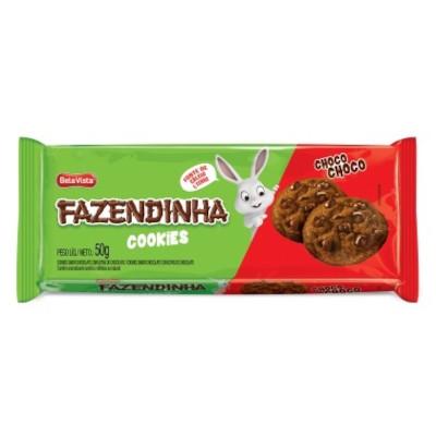 Cookies sabor chocolate 50g Fazendinha pacote PCT