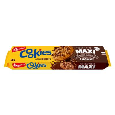 Cookies sabor chocolate 96g Bauducco/Maxi pacote PCT
