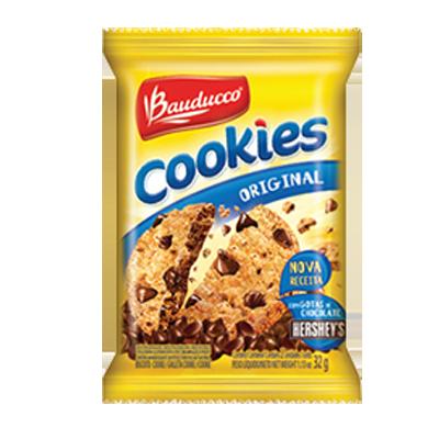 Cookies tradicional 14 unidades de 32g Bauducco caixa CX