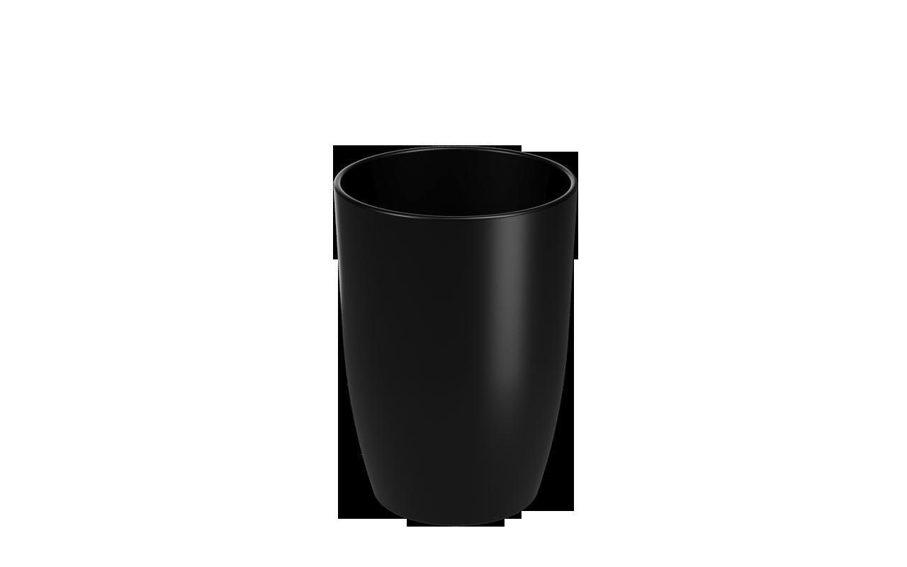 Copo  Cozy Preto Polipropileno (PP) 275ml Coza  UN