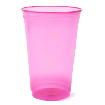 Copo descartável 300ml rosa neon 25 unidades Copobras/Balada pacote PCT