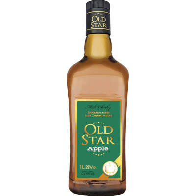 Coquetel sabor Apple 1Litro Old Star garrafa UN
