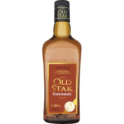 Coquetel sabor Coconut  1Litro Old Star garrafa UN