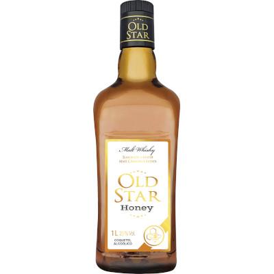 Coquetel sabor Honey 1Litro Old Star garrafa UN