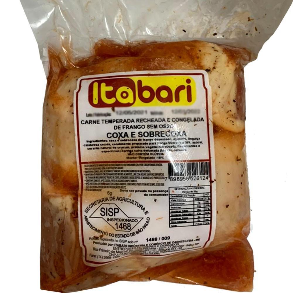 Coxa com Sobrecoxa sem osso recheada congelada por kg Itabari  KG