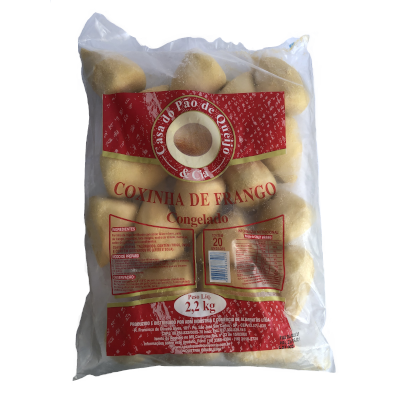 Coxinha Tradicional Frita 20 unidades Casa do Pão de Queijo pacote 2,5kg PCT