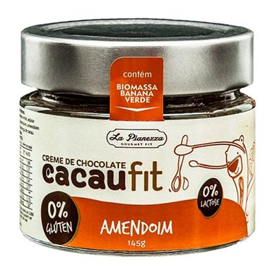 Creme de Chocolate com amendoim sem glúten e sem lactose 145g Cacau Fit pote UN