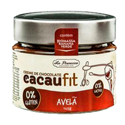 Creme de Chocolate com avelã sem glúten e sem lactose 145g Cacau Fit pote UN