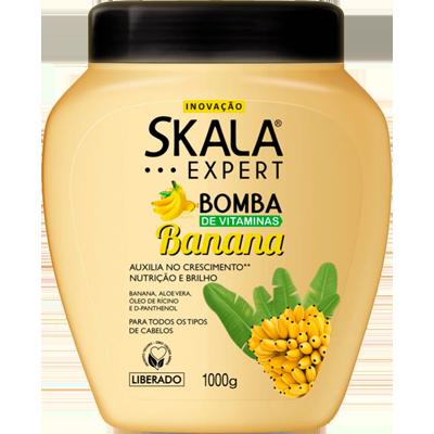 Creme de Tratamento de Cabelos Bomba Banana 1kg Skala pote POTE