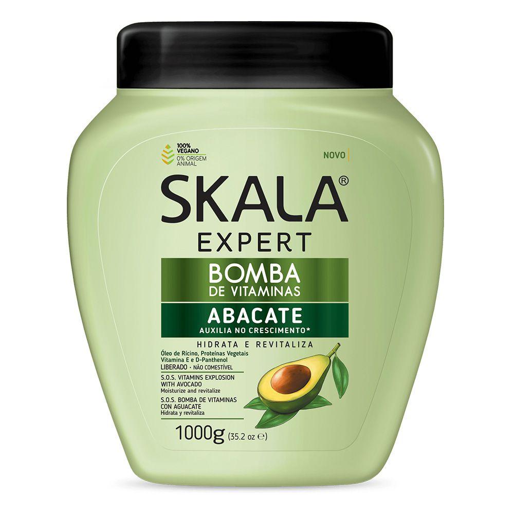 Creme de Tratamento de Cabelos Bomba Vitaminas de Abacate 1kg Skala pote POTE