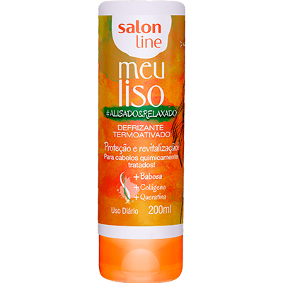 Creme de Tratamento de Cabelos defrisante alisado e relaxado 200ml Meu Liso/Salon Line  UN