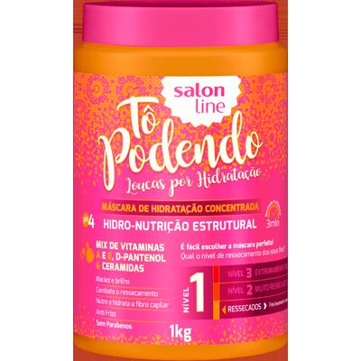 Creme de Tratamento de Cabelos hidro nutrição estrutural NV1 1kg Tô Podendo/Salon Line pote POTE