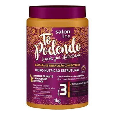 Creme de Tratamento de Cabelos hidro nutrição estrutural NV3 1kg Tô Podendo/Salon Line pote POTE